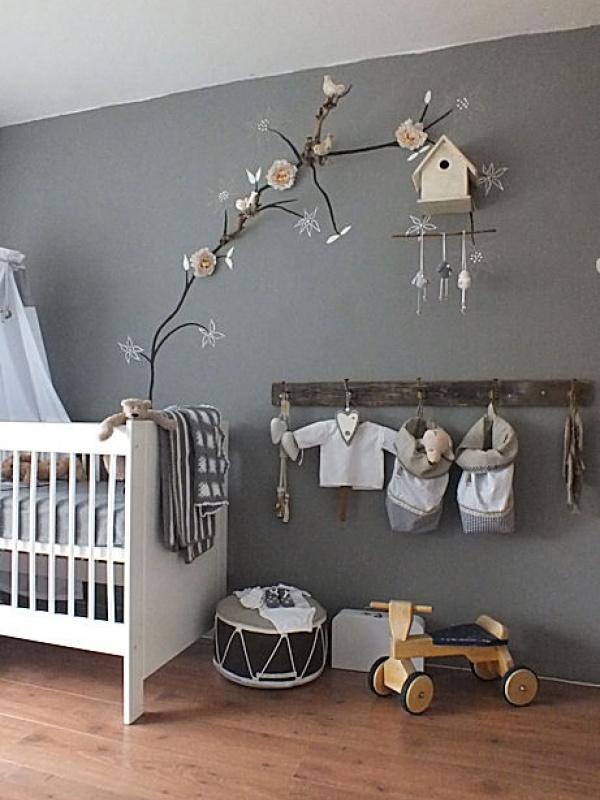 Babykamer in grijs en wit thuis lievekeet - Deco ruimte jongensbaby ...
