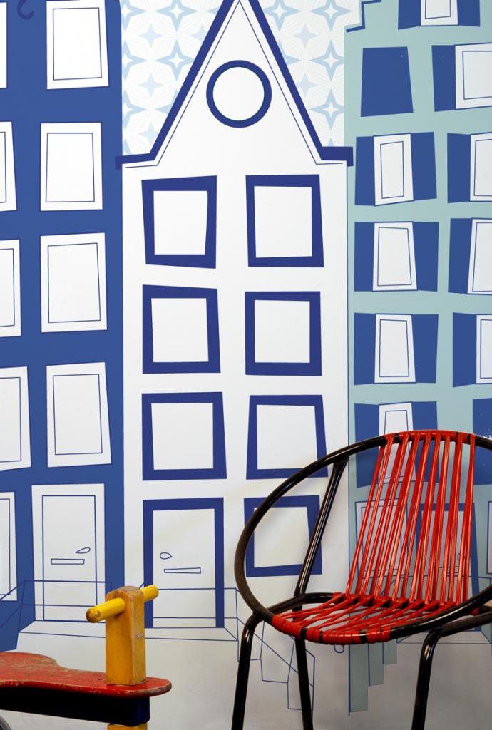 Behang voor de babykamer
