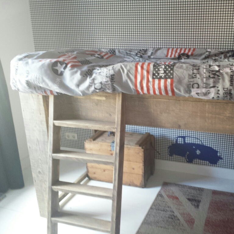 Stoere jongenskamer thuis lievekeet - Blauwe en grijze jongens kamer ...
