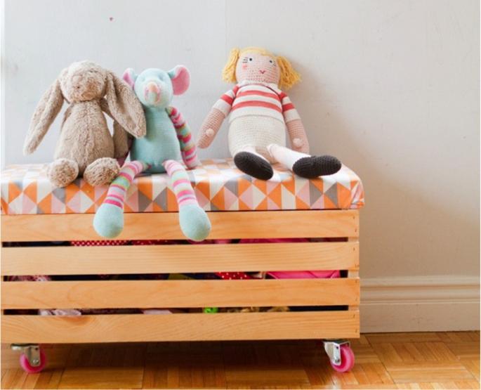 Корзина для игрушек своими руками из дерева
