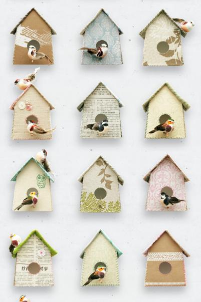Vogelhuisjes overal
